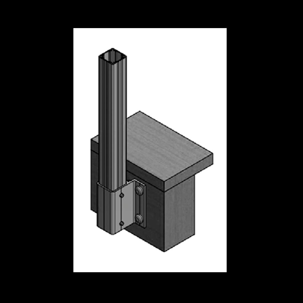 Fascia railing mount