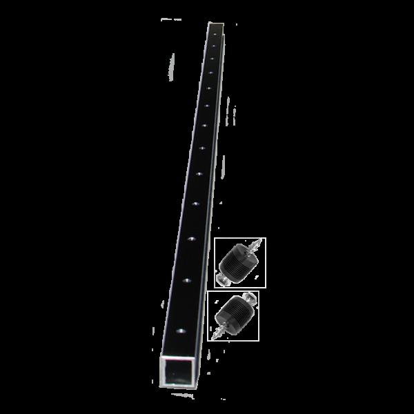 black aluminum brace for railing