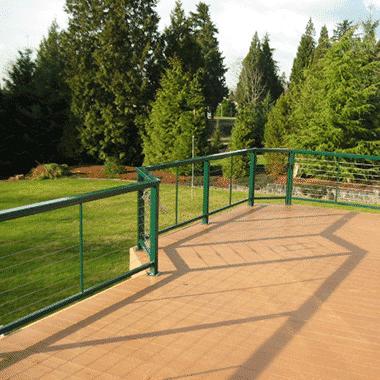 RailFX Green Cable Railing