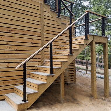 wood and metal railing